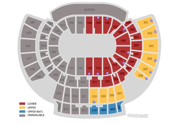 Arena Seating Chart - Half House
